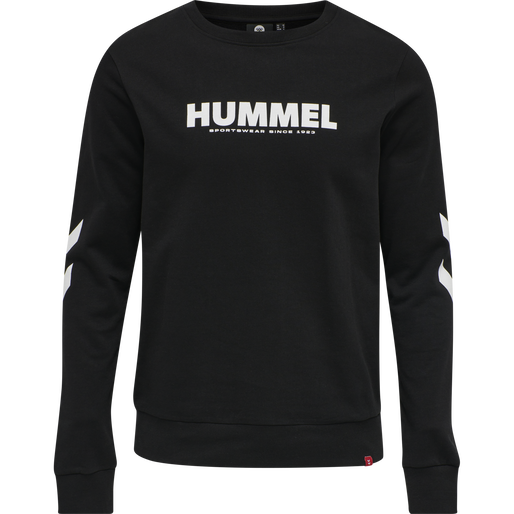 hmlLEGACY SWEATSHIRT, BLACK, packshot