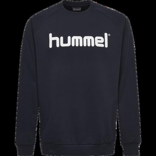 HUMMEL GO KIDS COTTON LOGO SWEATSHIRT, MARINE, packshot