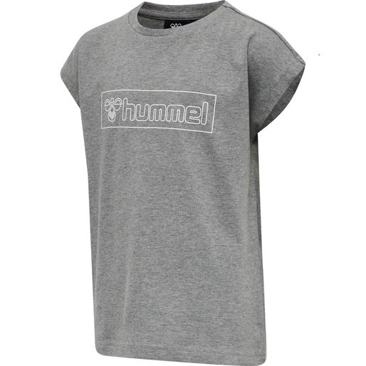 hmlBOXLINE T-SHIRT S/S, MEDIUM MELANGE, packshot