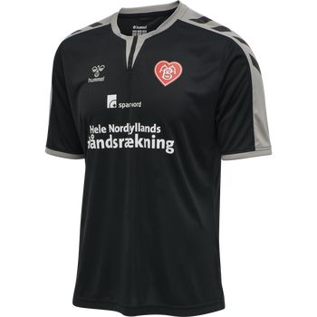 AAB 2ND AWAY JERSEY SS 20-21, BLACK/GREY W/SPONSOR, packshot