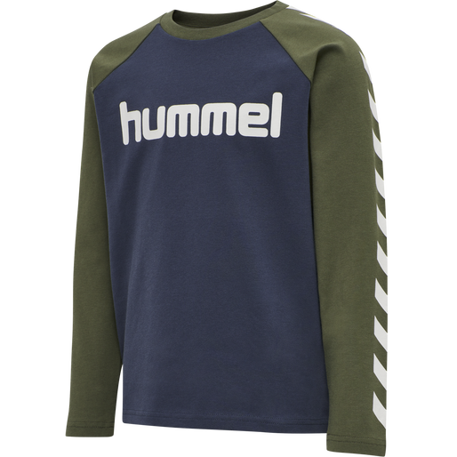 hmlBOYS T-SHIRT LS, IVY GREEN, packshot