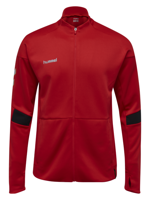 TECH MOVE KIDS POLY ZIP JACKET, TRUE RED, packshot