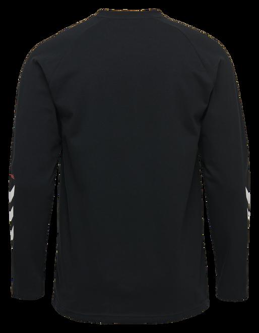 hmlKROVEJ T-SHIRT L/S, BLACK, packshot