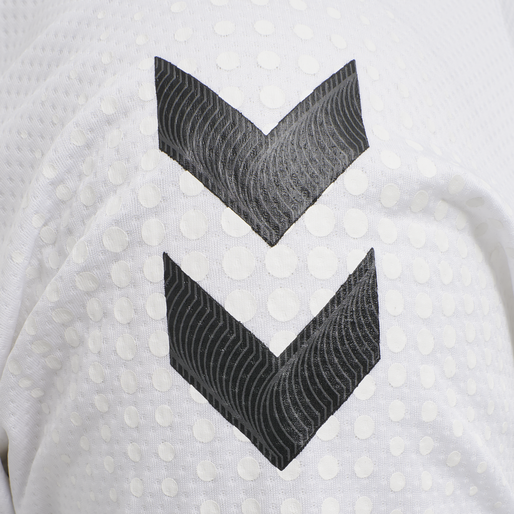 hmlLEAD S/S POLY JERSEY, WHITE, packshot