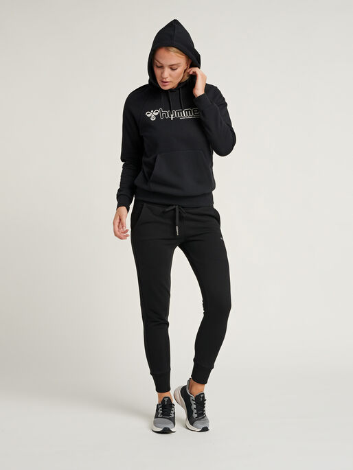 hmlNONI HOODIE, BLACK, model