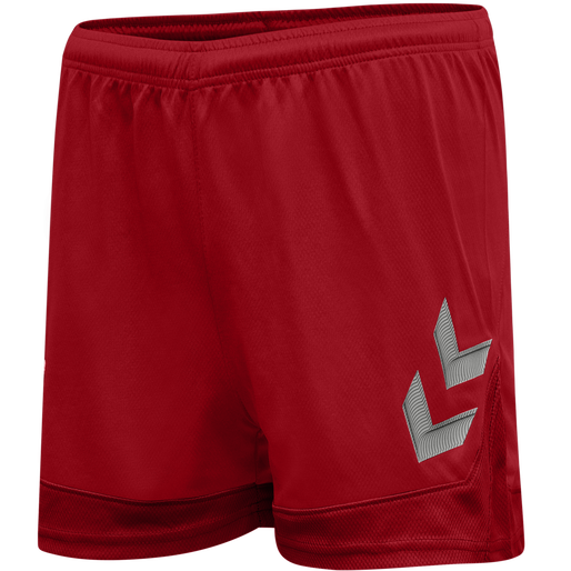 hmlLEAD WOMENS POLY SHORTS, TRUE RED, packshot