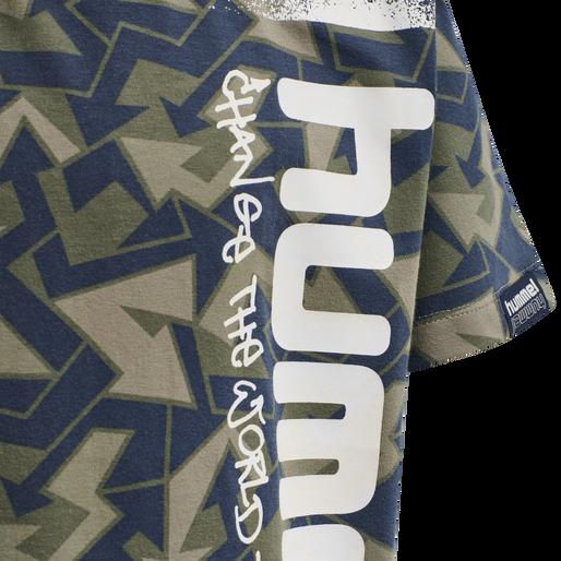 hmlARROWS T-SHIRT S/S, BLACK IRIS, packshot