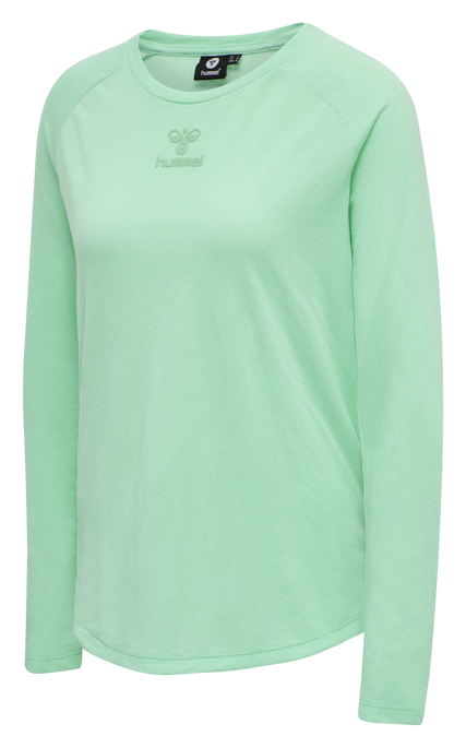 hmlVANJA T-SHIRT L/S, ICE GREEN, packshot