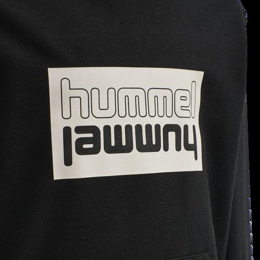 hmlDUO HOODIE, BLACK, packshot