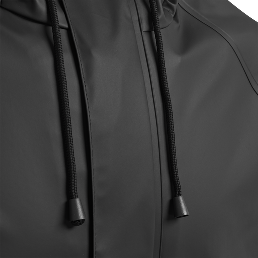 hmlROONIE RAIN COAT, BLACK, packshot