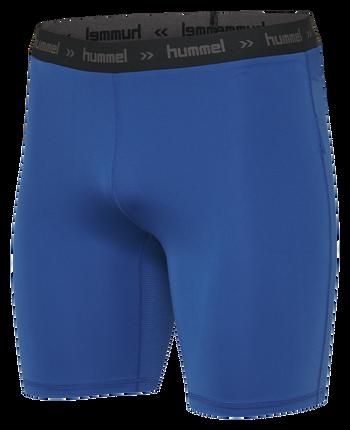 HUMMEL FIRST PERFORMANCE TIGHT SHORTS, TRUE BLUE, packshot