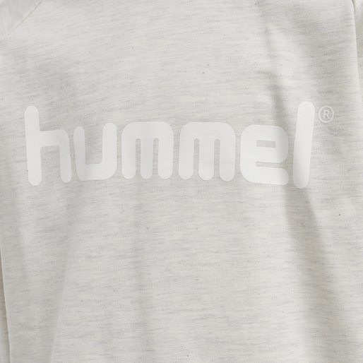 HUMMEL GO KIDS COTTON LOGO HOODIE, EGRET MELANGE, packshot