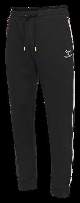 hmlLAYTON REGULAR PANTS, BLACK, packshot