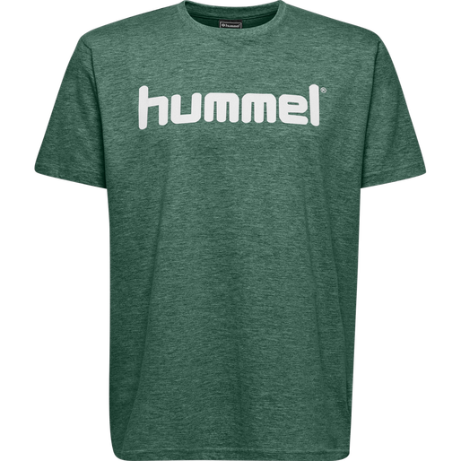 HUMMEL GO KIDS COTTON LOGO T-SHIRT S/S, EVERGREEN, packshot