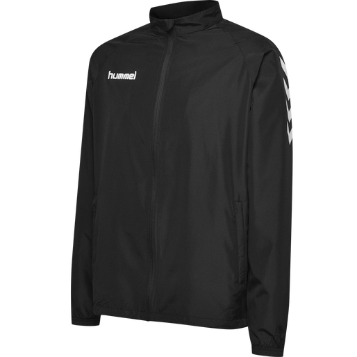 CORE MICRO ZIP JACKET, BLACK, packshot