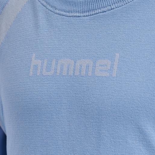 hmlSI SEAMLESS CROPTOP L/S, BEL AIR BLUE, packshot