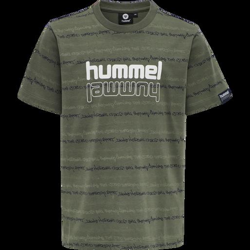 hmlDREW T-SHIRT S/S, THYME, packshot