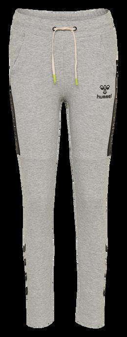 hmlNIRVANA SLIM PANTS, GREY MELANGE, packshot