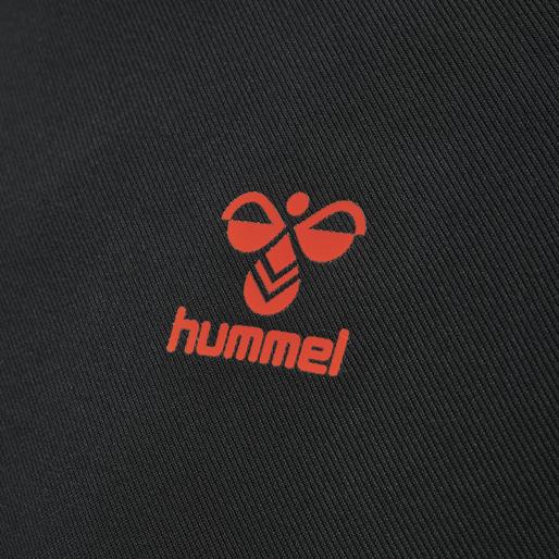 hmlACTION HALF ZIP SWEAT, BLACK/FIESTA, packshot