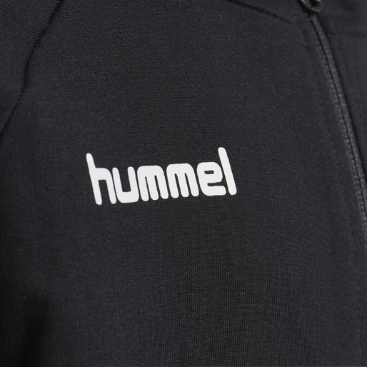 HUMMEL GO KIDS COTTON ZIP HOODIE, BLACK, packshot