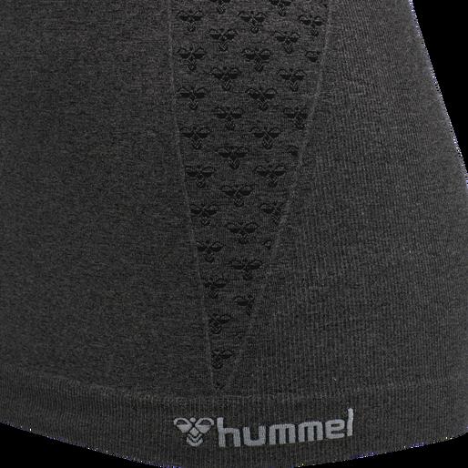 hmlCI SEAMLESS TOP, BLACK MELANGE, packshot