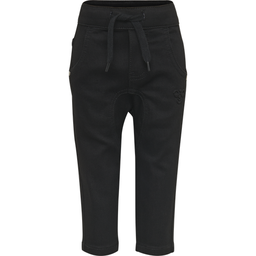hmlLEO PANTS, BLACK DENIM, packshot