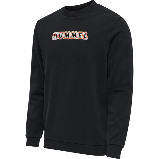 hmlTEMPO SWEATSHIRT, BLACK, packshot