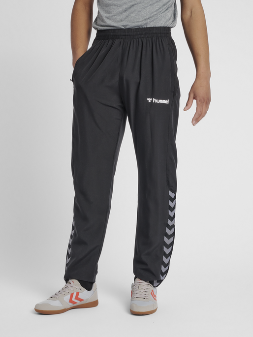 hmlAUTHENTIC MICRO PANT, BLACK/WHITE, model