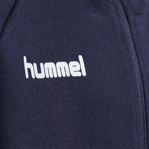 HUMMEL GO KIDS COTTON ZIP HOODIE, MARINE, packshot