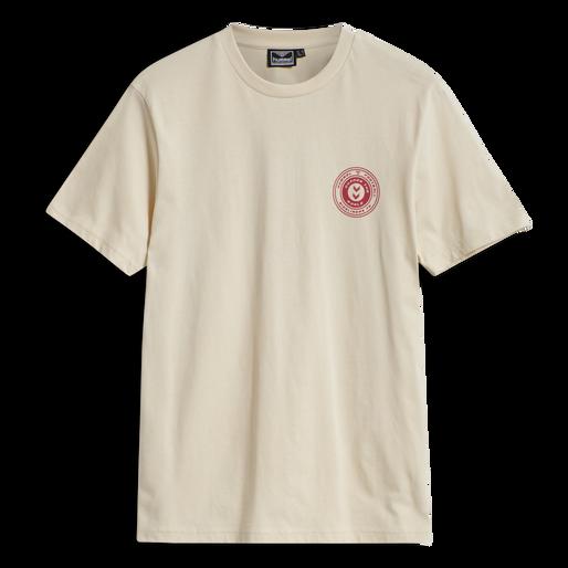 hmlMICHAEL T-SHIRT, BONE WHITE, packshot