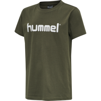 HUMMEL GO KIDS COTTON LOGO T-SHIRT S/S, GRAPE LEAF, packshot