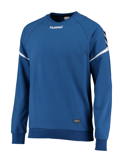 AUTH. CHARGE COTTON SWEATSHIRT, TRUE BLUE, packshot