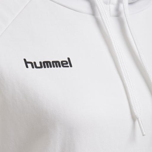 HUMMEL GO COTTON HOODIE WOMAN, WHITE, packshot