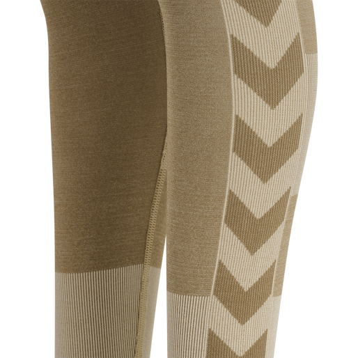 hmlSPIN SEAMLESS TIGHTS, SIMPLY TAUPE, packshot