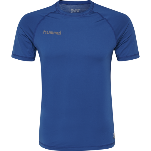 HUMMEL FIRST PERFORMANCE KIDS JERSEY S/S, TRUE BLUE, packshot