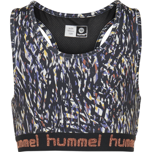 hmlMIMMI SPORTS TOP, BLACK/PURPLE, packshot