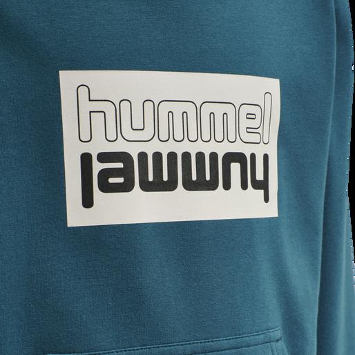 hmlDUO HOODIE, BLUE CORAL, packshot