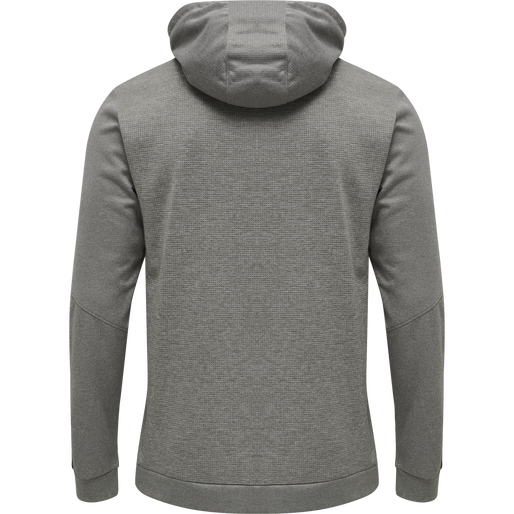 hmlAUTHENTIC POLY HOODIE, GREY MELANGE, packshot