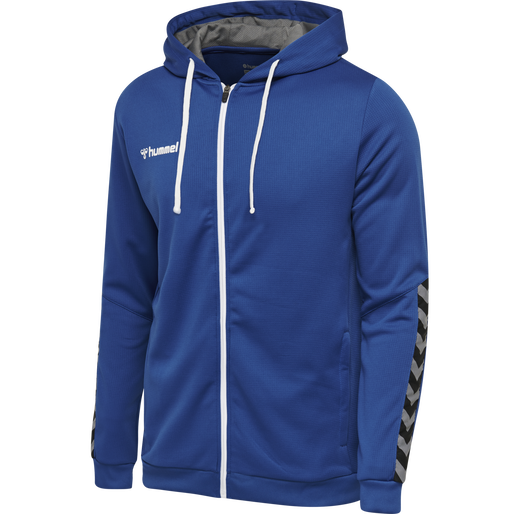 hmlAUTHENTIC POLY ZIP HOODIE, TRUE BLUE, packshot
