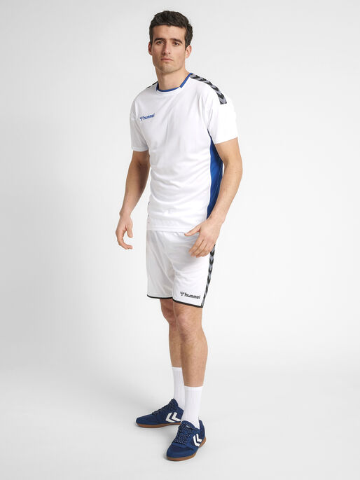 hmlAUTHENTIC POLY JERSEY S/S, WHITE, model