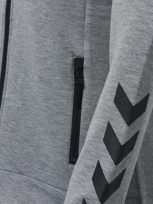HMLCLIO ZIP JACKET, GREY MELANGE, packshot