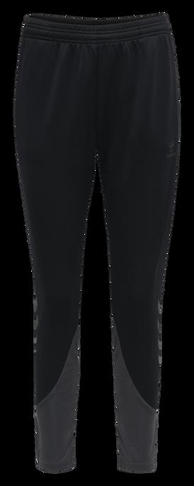 hmlACTION TRAINING PANTS WOMAN, BLACK/ASPHALT, packshot