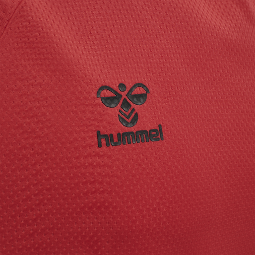 hmlLEAD S/S POLY JERSEY KIDS, TRUE RED, packshot