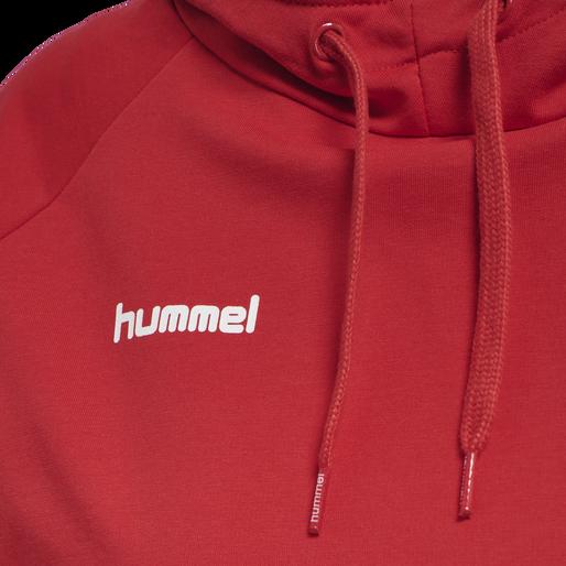 HUMMEL GO COTTON HOODIE WOMAN, TRUE RED, packshot