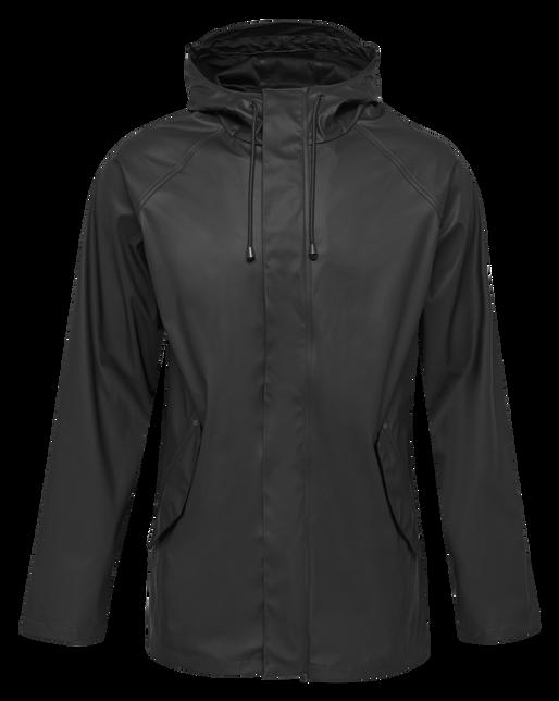 hmlROONIE RAIN COAT, BLACK, packshot