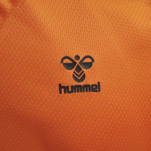 hmlLEAD S/S POLY JERSEY, ORANGE TIGER, packshot