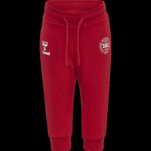 hmlGEJST CREW SUIT, TANGO RED/WHITE, packshot