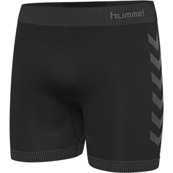 HUMMEL FIRST SEAMLESS SHORT TIGHTS, BLACK, packshot