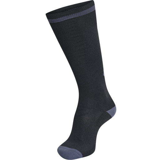 ELITE INDOOR SOCK HIGH, BLACK/ASPHALT, packshot