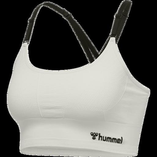 hmlLUNA SEAMLESS SPORTS TOP, MARSHMALLOW, packshot